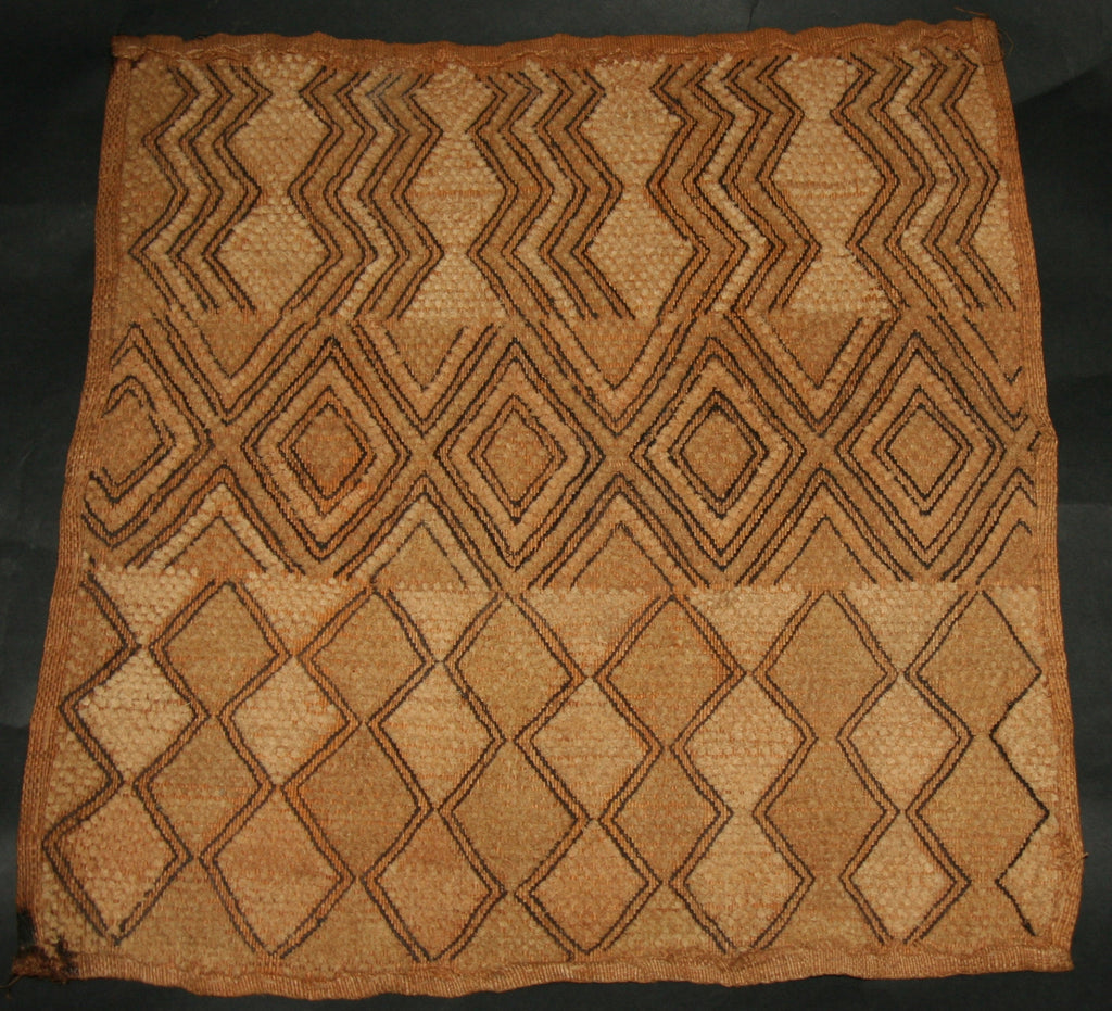 Antique African Kuba Shoowa Cloth 5 Handwoven in the Congo DRC - culturesinternational  - 1
