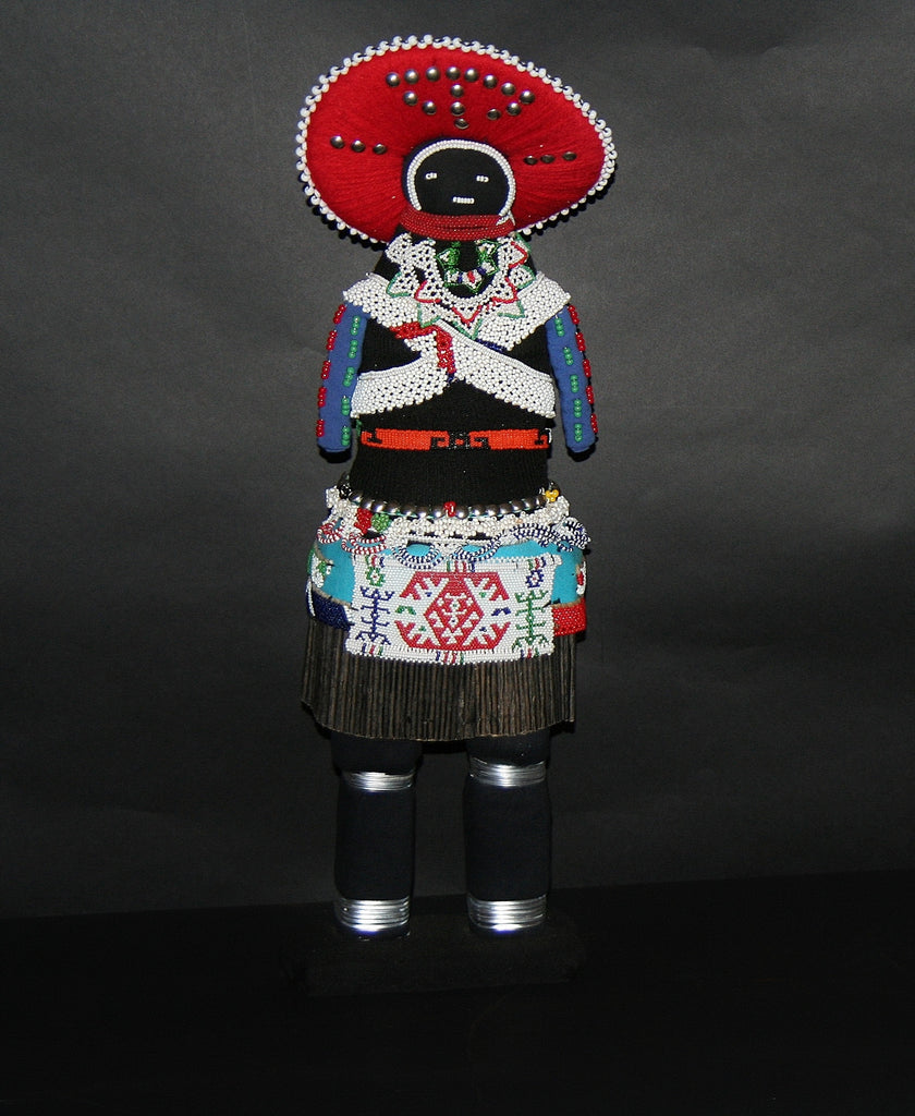 "African Zulu Tribal Msinga Doll Collectible 22"" H - Cultures International From Africa To Your Home"
