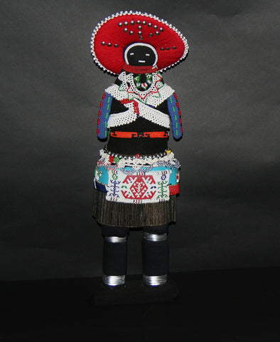 "African Zulu Tribal Msinga Doll Collectible 22"" H - culturesinternational  - 1"
