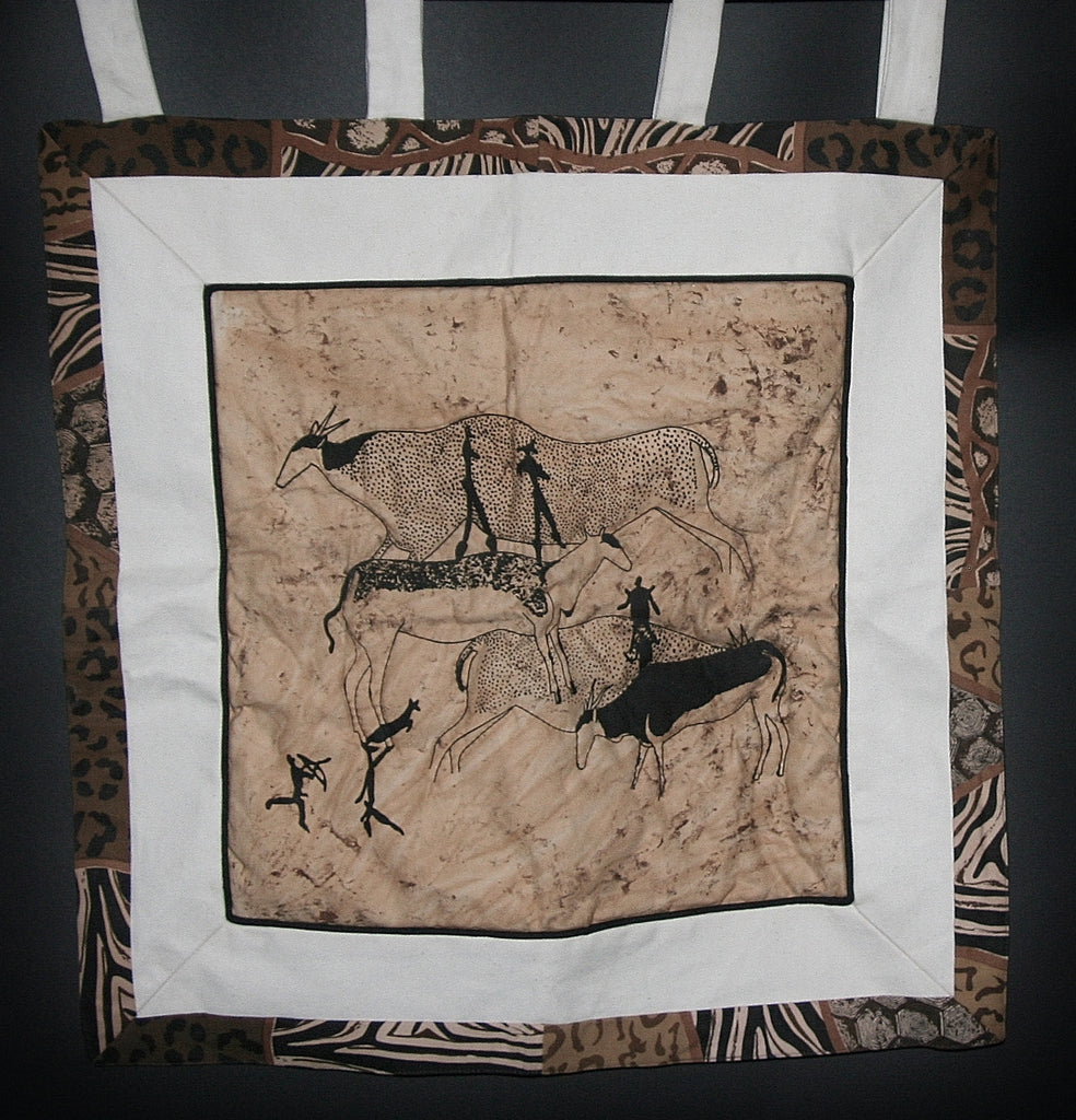 Bushman Cave Art Wall Hanging - Cultures International From Africa To Your Home