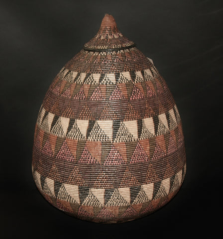 "African Basket Zulu Ukhamba Communal Ceremonial Basket Extra Large 32""H X 74""C - Cultures International From Africa To Your Home"