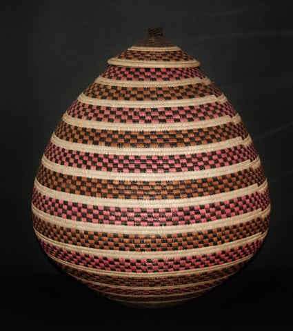 "Zulu African Basket Ceremonial Basket Extra Large 28""H X 65""C - Cultures International From Africa To Your Home"