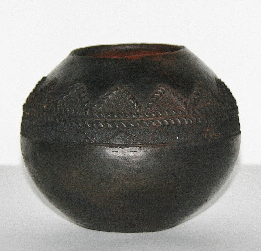 Vintage Ukhamba African Clay Beer Pot Zulu Tribal Ceremonial - South Africa - Cultures International From Africa To Your Home