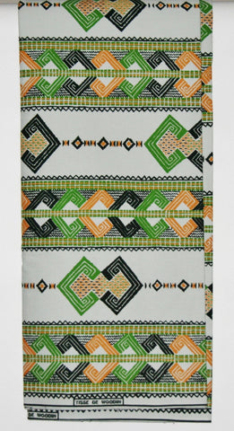 Vlisco Tisse De Woodin 6 Yards Classic African Fabric