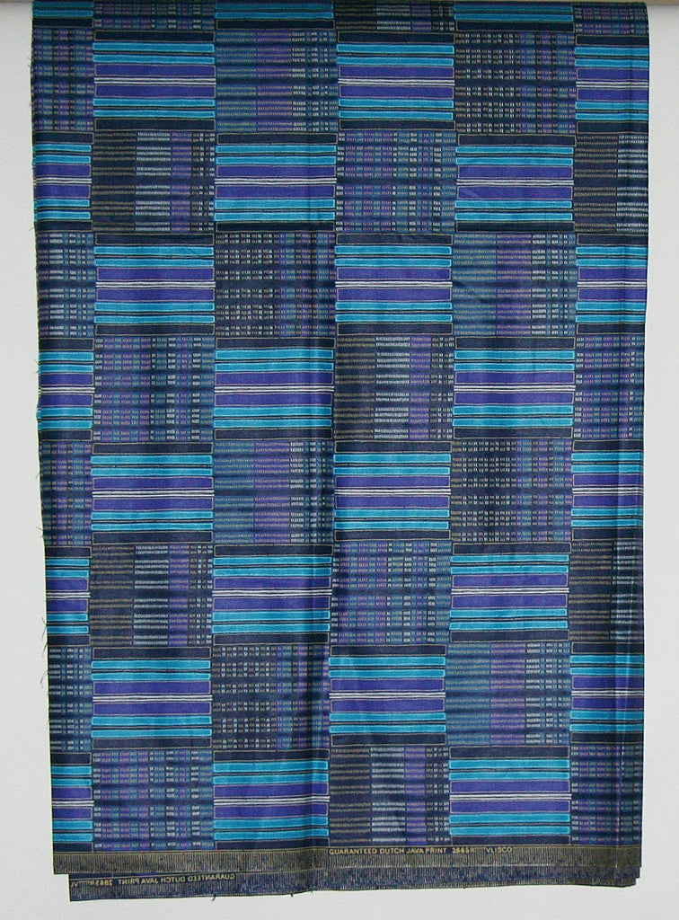 Vlisco Classic Dutch Java Hollandais Fabric Blue, Purple, White 5 Yards Authentic