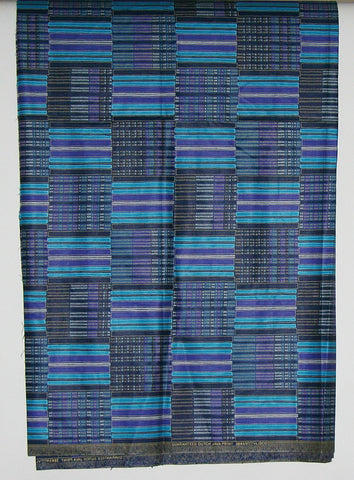 Vlisco Classic Dutch Java Hollandais Fabric Blue 5 Yards