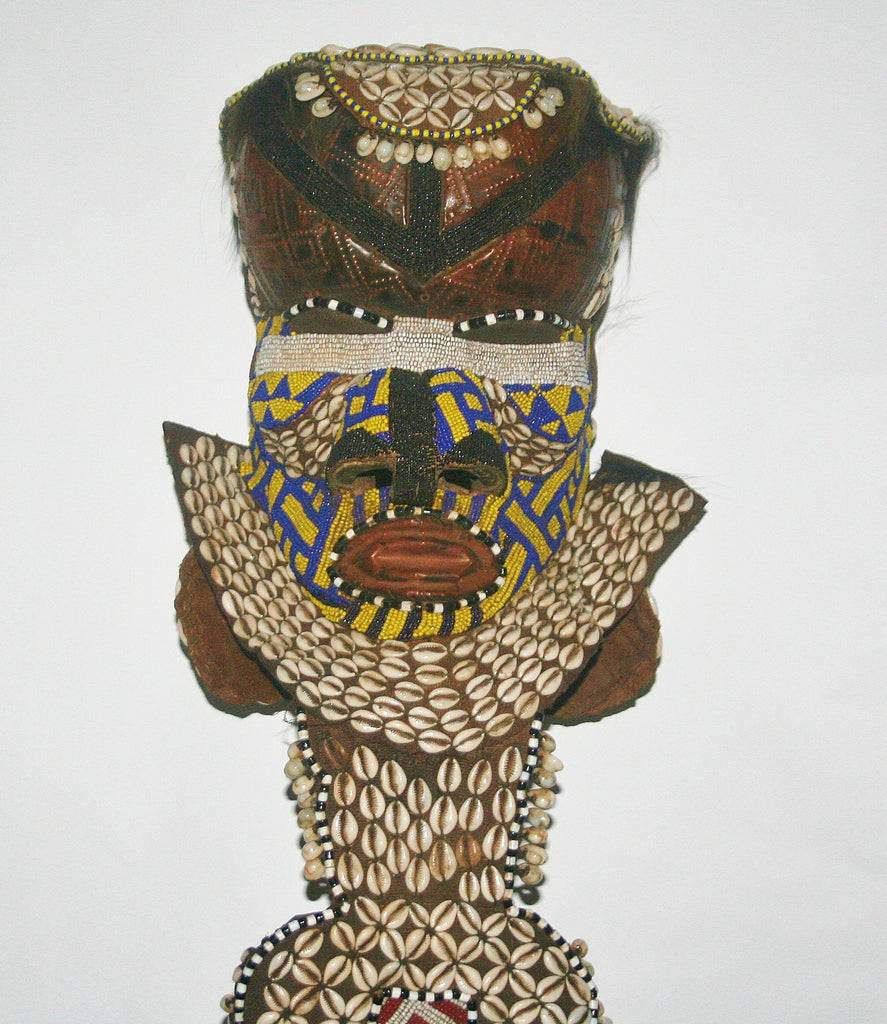 African Kuba Mboma Helmet Mask Bl Vintage Congo DRC - Cultures International From Africa To Your Home
