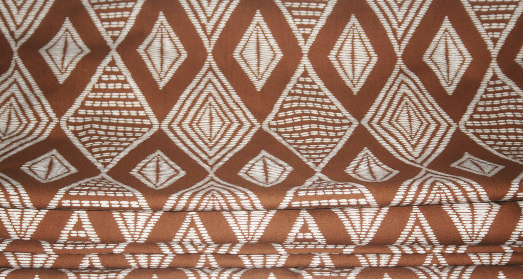 African Fabric Vlisco Classic Impression de Woodin Geometric 20.88 Yards Yard - Cultures International From Africa To Your Home