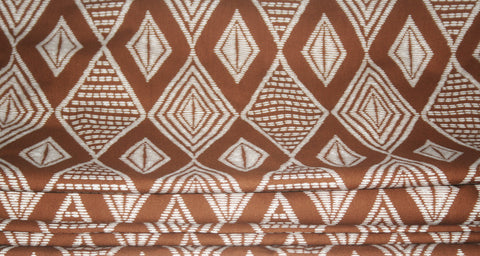 African Fabric Vlisco Classic Impression de Woodin Geometric 20.88 Yards Yard