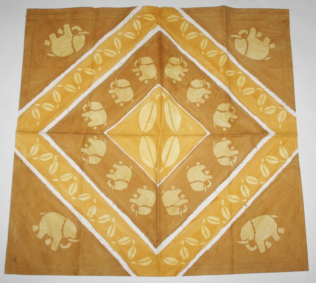 "Elephant Walk African Table Overlay Wall Hanging 29"" X 31"" - Cultures International From Africa To Your Home"