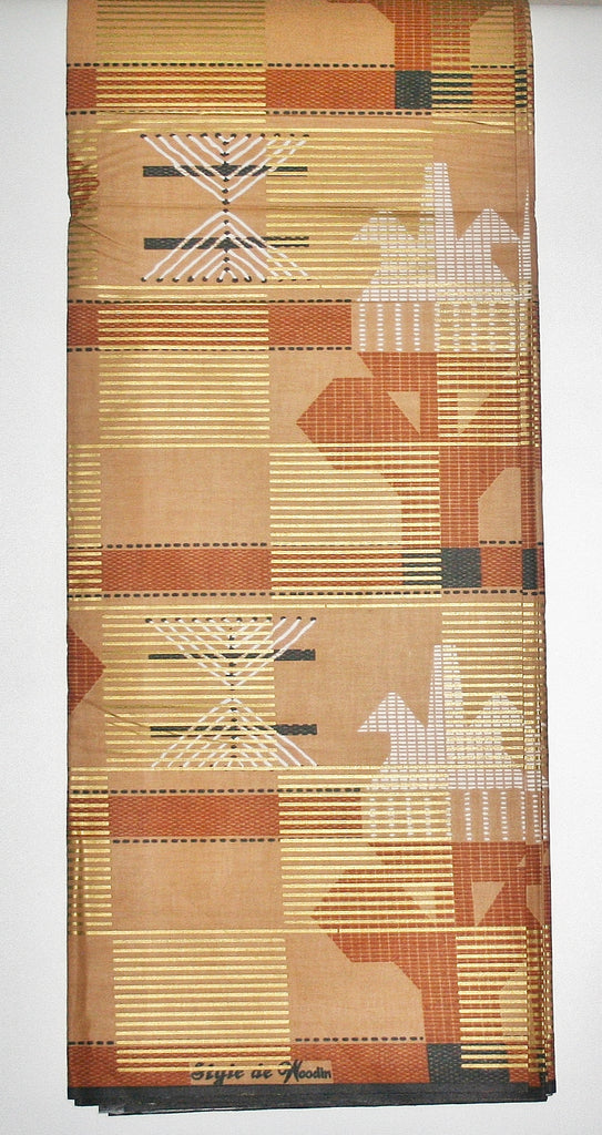 African Fabric 6 Yards Style De Woodin Wax Print Fabric Vlisco Classic - Cultures International From Africa To Your Home