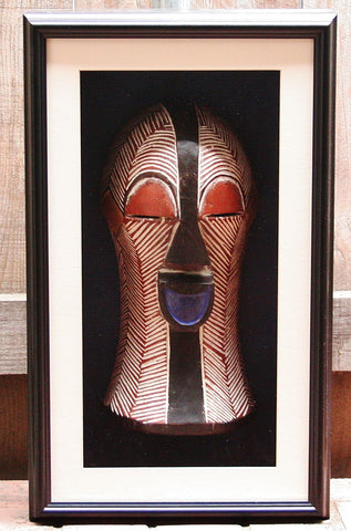 African Mask Songye Kifwebe Luba Tribal Congo Female