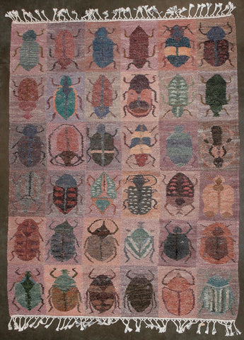 "African Carpet Beetles Handwoven 74"" X 57"" - culturesinternational"