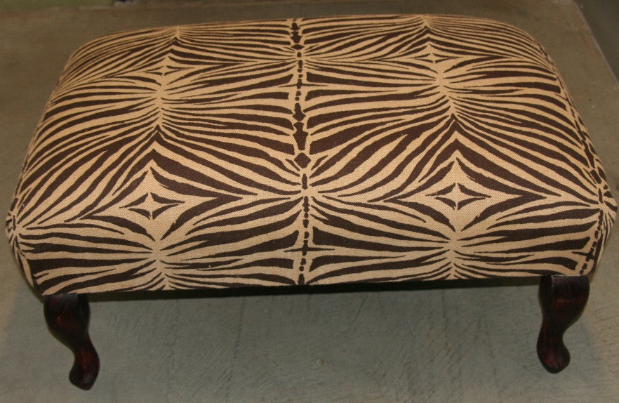 African Zebra Print Bench/Ottoman Coffee Table - culturesinternational  - 1