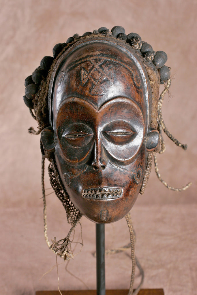 African Chokwe Pwo Female Mask With Coiffure - culturesinternational  - 1