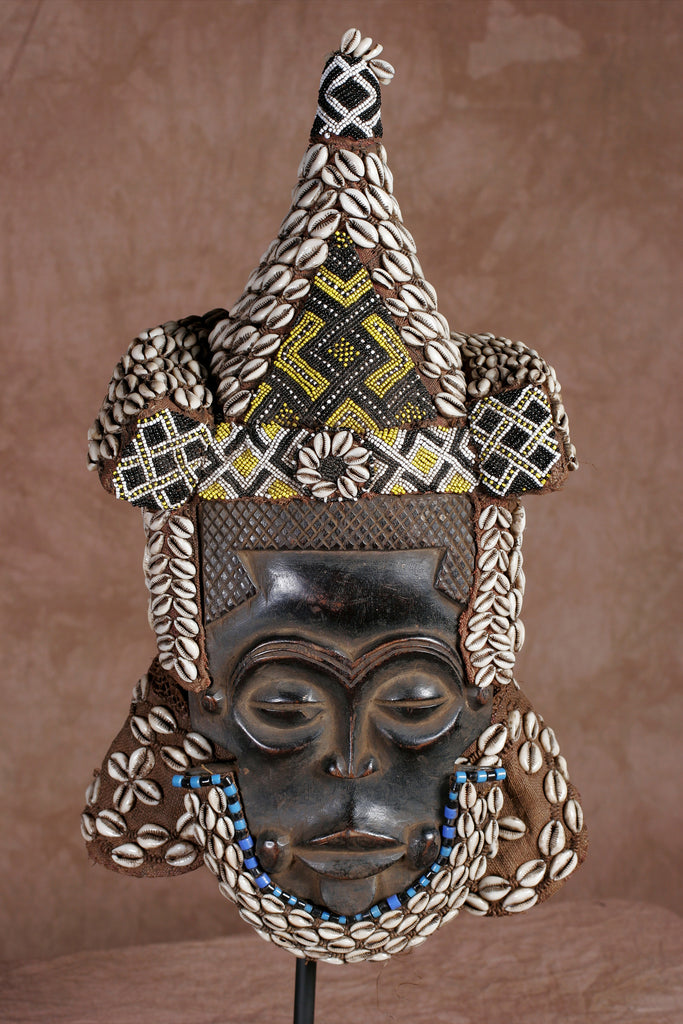 African Flat Lele Helmet Mask for Dancing Congo DRC - Cultures International From Africa To Your Home