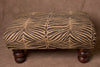 African Zebra Print Bench/Ottoman Coffee Table - culturesinternational  - 2