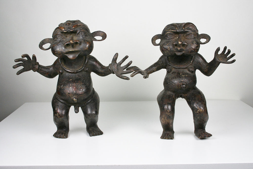Bronze Pygmy Tikar Tribal Male and Female Doktor - Cultures International From Africa To Your Home