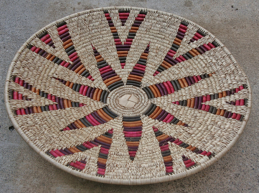 "Vintage African Zulu Open Isiquabetho Basket 79""  X 25""D - Cultures International From Africa To Your Home"