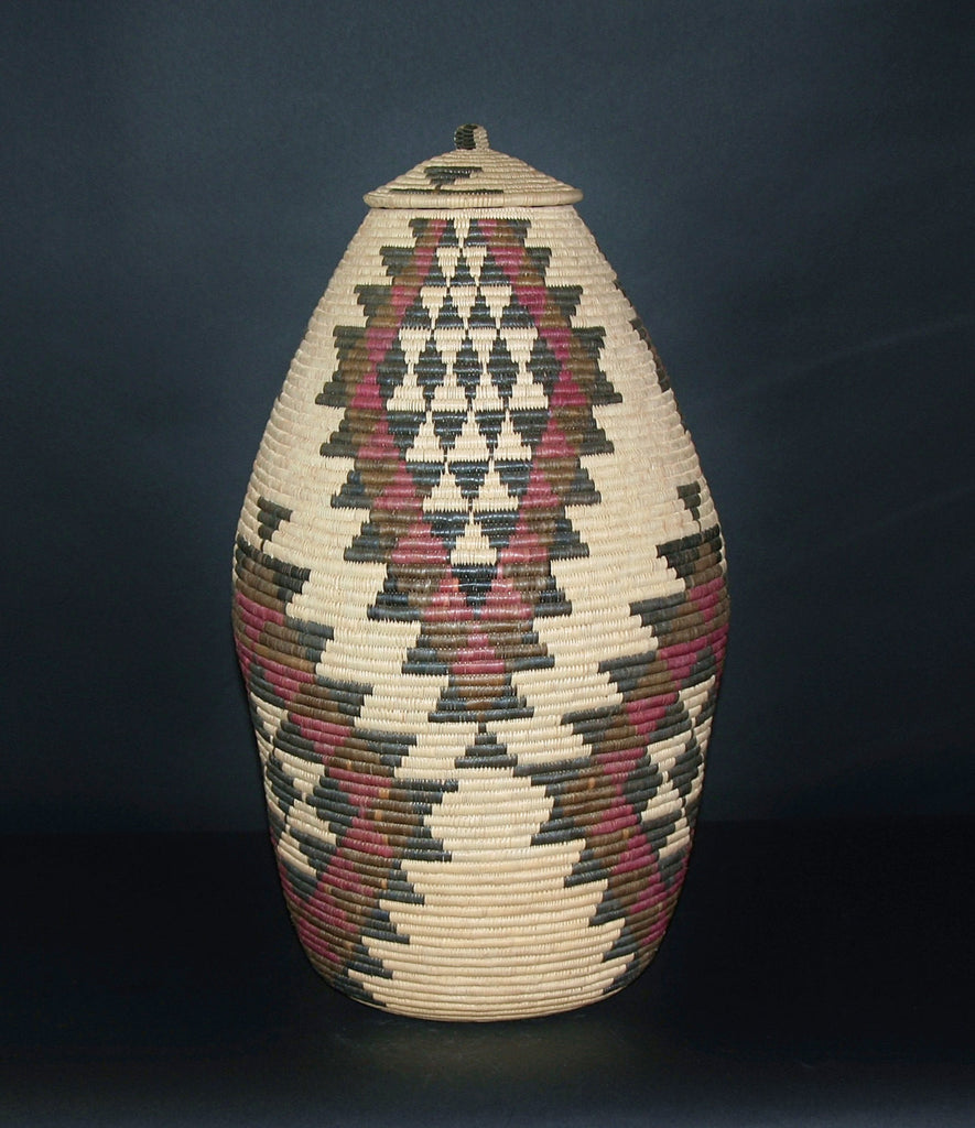 "Zulu Tribal Beer Basket - Ukhamba -       23""H X  16""W X 41""C South Africa"