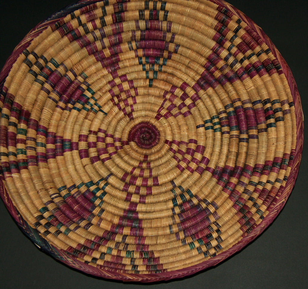 "African Ceremonial Serving Basket 20.5""D X 4""H Handcrafted in Ghana - culturesinternational  - 1"
