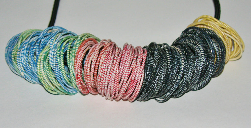 Recycled Flip Flop Bracelets Set of 10 Assorted Handmade in Mali, West Africa