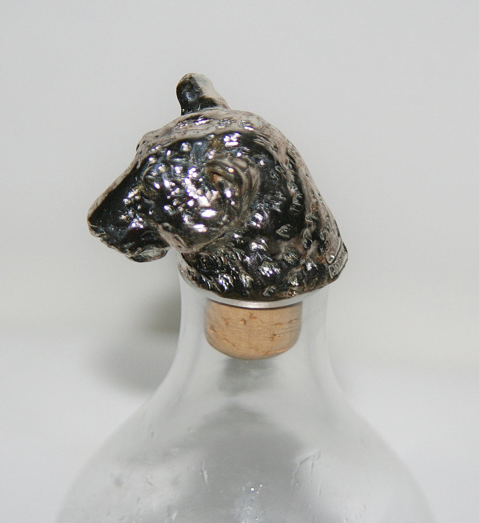 African Leopard Big 5 Cork Stopper/Bottle Stopper Hallmarked Sterling Handcrafted in South Africa - Cultures International From Africa To Your Home