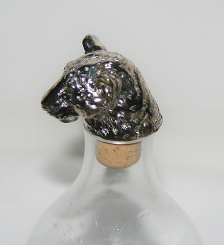 African Leopard Big 5 Cork Stopper/Bottle Stopper Hallmarked Sterling Handcrafted in South Africa