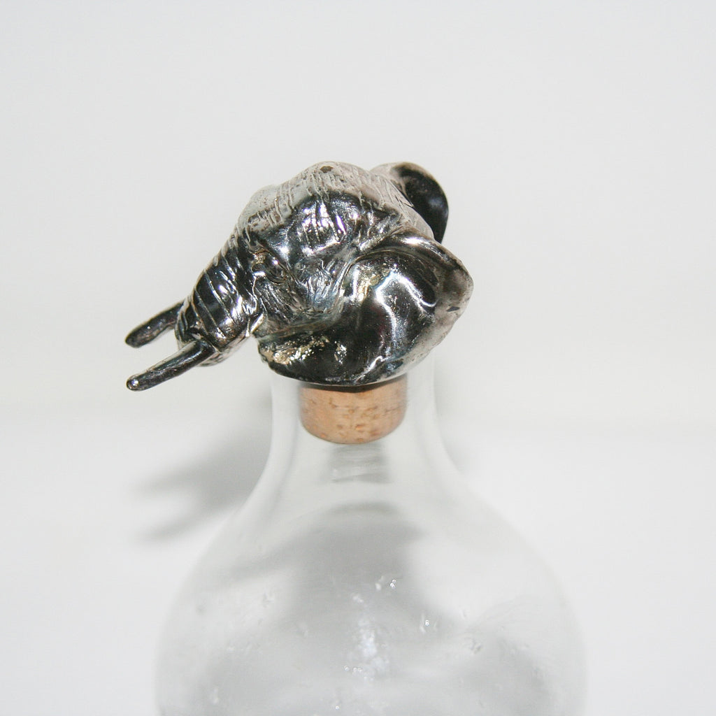 African Elephant Wine Cork Sterling Silver African Big 5 Vintage Handcrafted in South Africa - Cultures International From Africa To Your Home