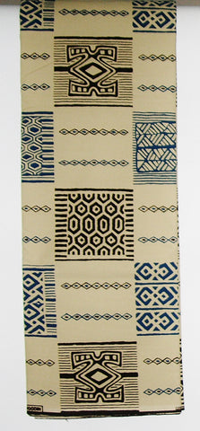 African Fabric 6 Yards Vlisco Classic Couleurs de Woodin Geometric