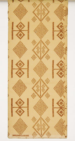 African Fabric 6 Yards Impression de Woodin Classic Vlisco Gold Mango Brown Geometric Color