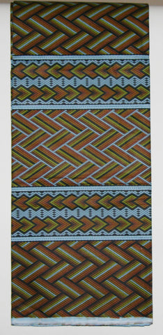 African Fabric 6 Yards Classic Couleurs de Woodin Geometric Bamboo Design