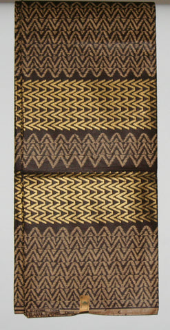 6 Yards Vlisco Uniwax African Fabric Ivory Coast Colors Chocolate Beige Gold
