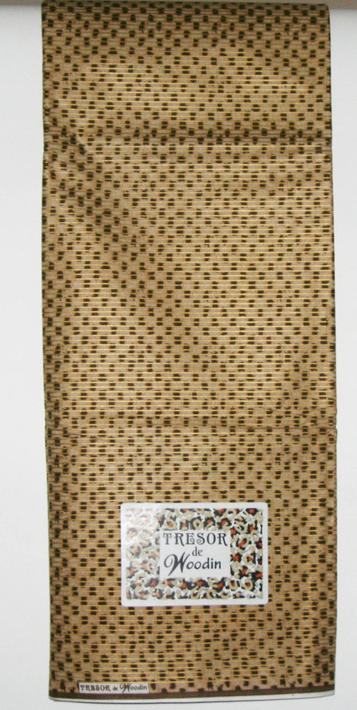 African Fabric 6 Yards Classic Couleurs de Woodin Geometric Gold Brown - Cultures International From Africa To Your Home