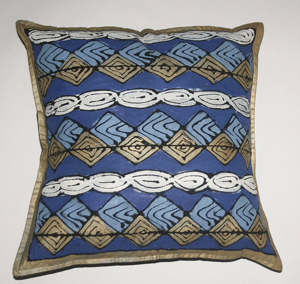 "African Pillow Geometric Diamond Pattern 19"" X 19"" - Cultures International From Africa To Your Home"