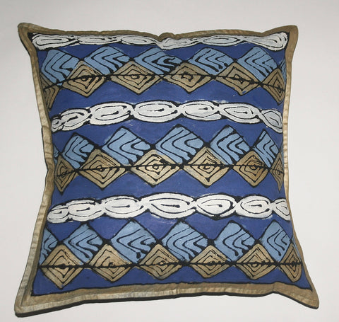 "African Pillow Geometric Diamond Pattern 19"" X 19"""