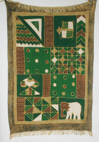 African Sadza Batik Tapestry, Tribal Geometric - Cultures International From Africa To Your Home