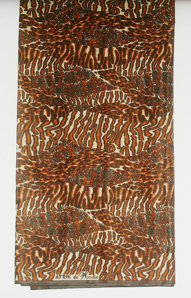 African Fabric 6 Yard Animal Print Wax Fabric - Vintage - Cultures International From Africa To Your Home