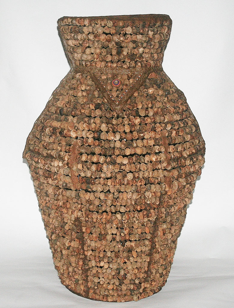 "African Tribal Vase Tebvu Mulapfa Standing Pot Venda/Lemba People South Africa 35""H X 26""W X 64""C"