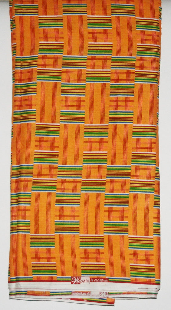 African Fabric Classic 12 Yards Woodin Le Createur Vlisco Kente Fabric - Cultures International From Africa To Your Home