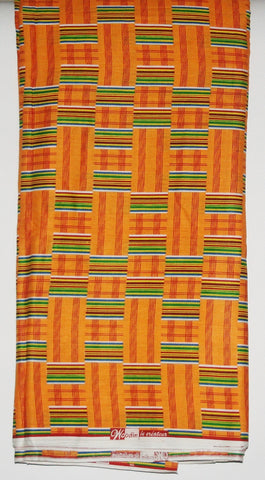 African Fabric Classic 12 Yards Woodin Le Createur Vlisco Kente Fabric