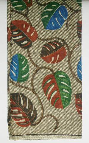 African Fabric 6 Yards Guaranteed Veritable Print Classic - Cultures International From Africa To Your Home