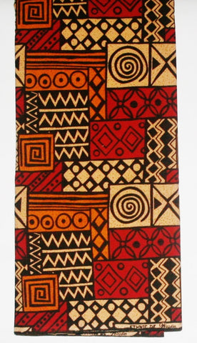 African Fabric 6 Yards Ethnic De Woodin Vlisco Classic Geometric