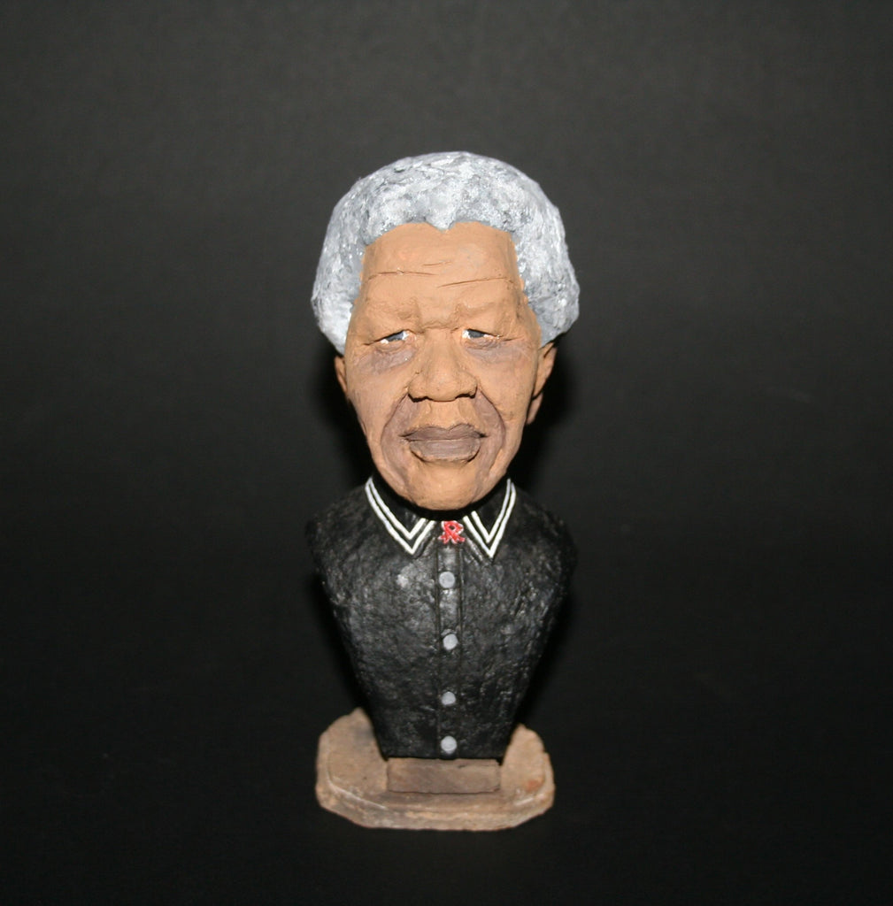 Madiba Sculpture  Mandela Bust - Cultures International From Africa To Your Home