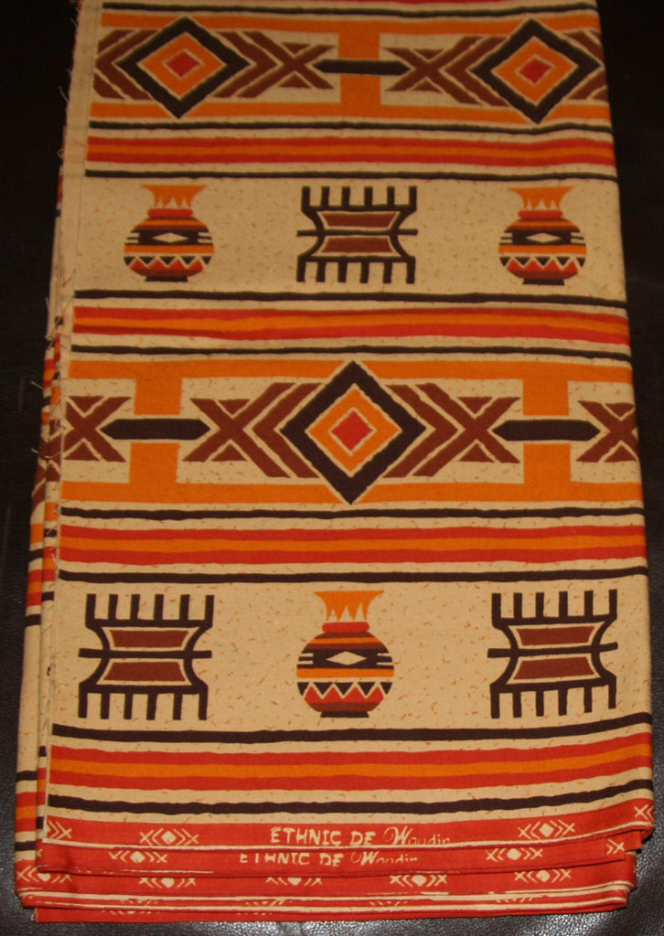 African Fabric 6 Yards Vintage Ethnic de Woodin Vlisco Classic - Cultures International From Africa To Your Home