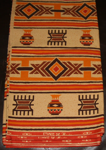 African Fabric 6 Yards Vintage Vlisco - culturesinternational  - 1