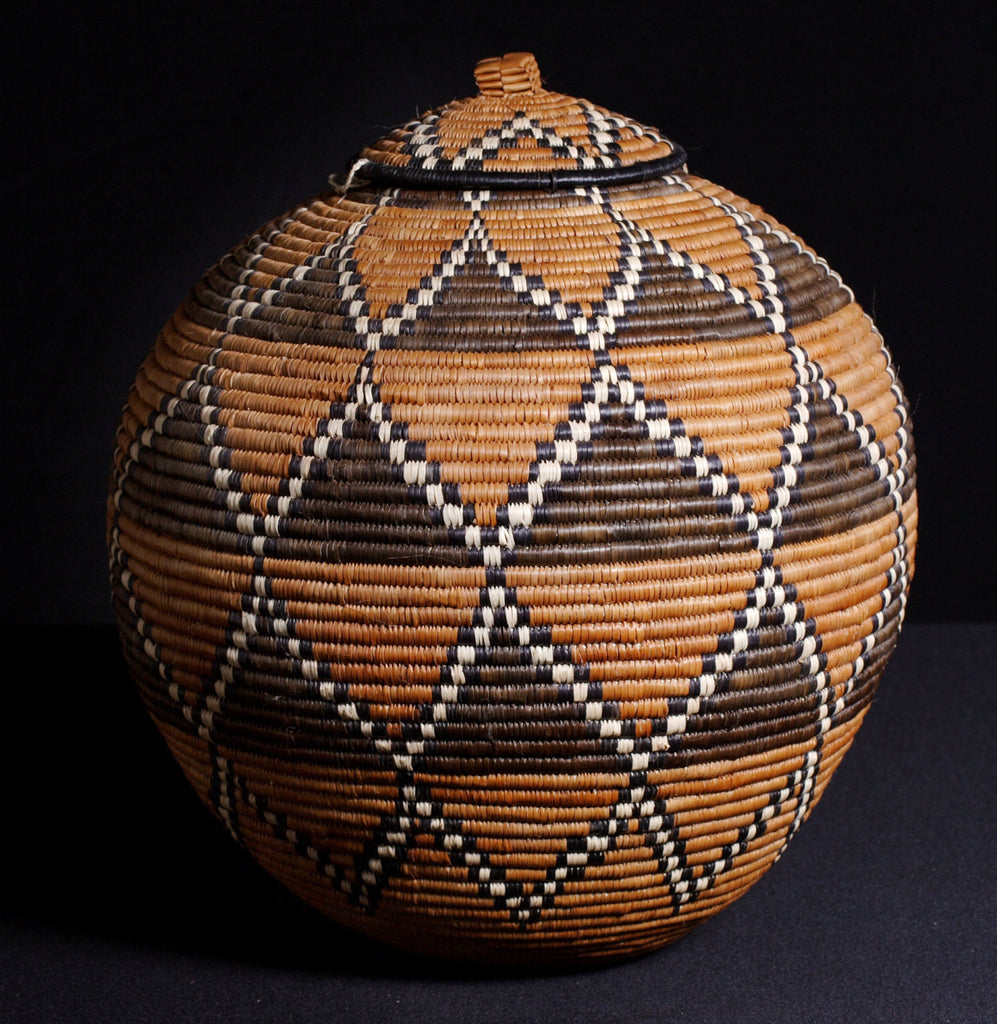 "Vintage African Zulu Beer Basket Ukhamba 15"" H X 39""C - Cultures International From Africa To Your Home"