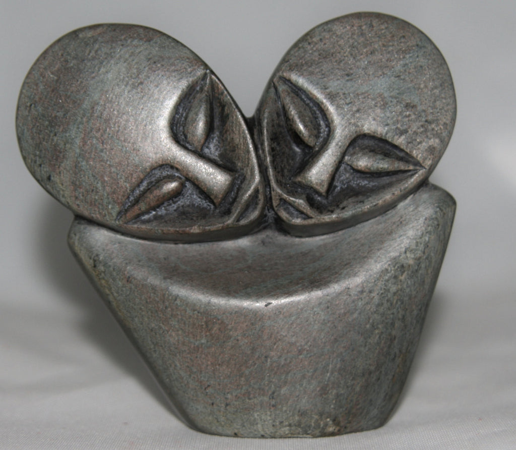African Shona Abstract Sculpture Lovers Zimbabwe - Cultures International From Africa To Your Home