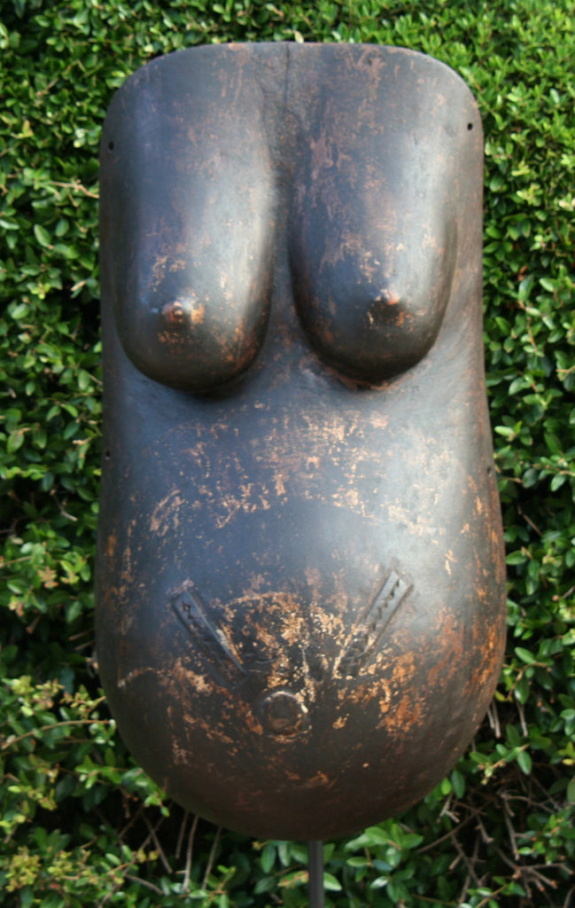 Vintage Makonde Carved Body Mask on Stand - Tanzania - Cultures International From Africa To Your Home