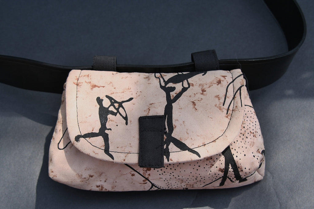 African Bushman Design Belt/Fanny Pack - Cultures International From Africa To Your Home